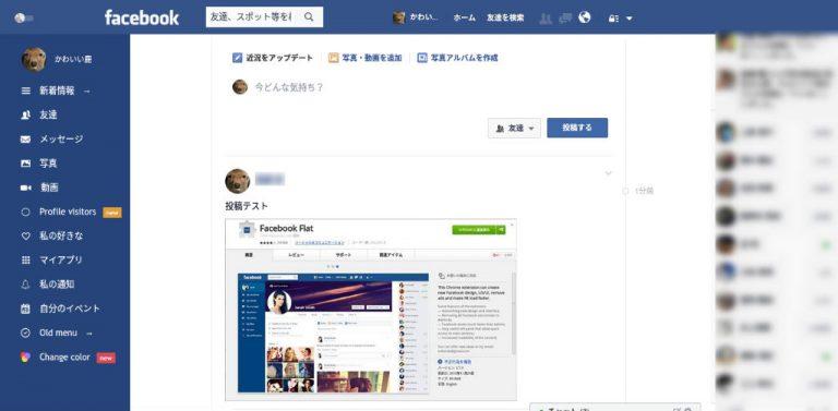 Facebook flat