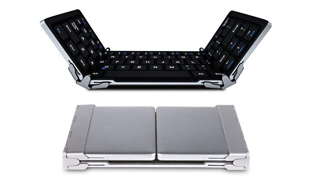 ポケットにも収まるコンパクトサイズ「EC Technology 折りたたみ式Bluetoothキーボード」レビュー