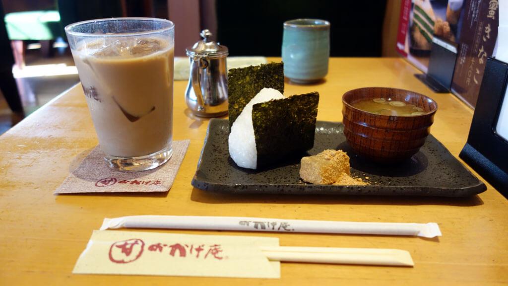 和風の甘味メニューやおにぎりモーニングが人気の「コメダ和喫茶 おかげ庵 葵店」に行ってみた