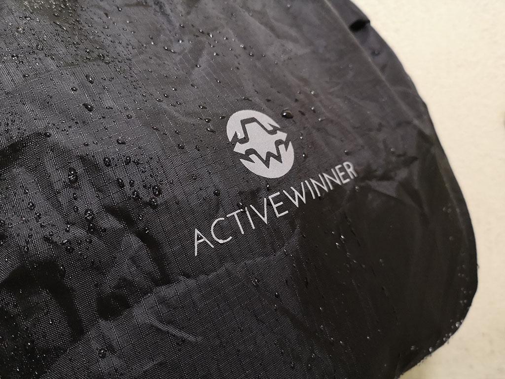 雨から大事なカバンを守る「Active Winner リュックカバー」レビュー。撥水加工で土砂降りでも安心!