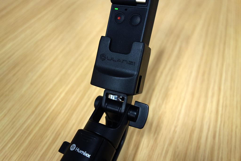 DJI OSMO Pocketの三脚マウント「Ulanzi OP2 ホルダー」レビュー。Type-Cポート付きで充電しながら使える!