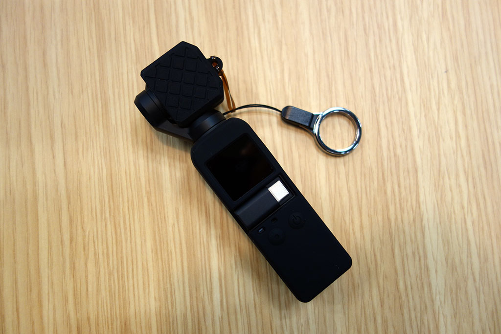 DJI OSMO Pocketの落下・傷防止に。SHOOTの「OSMO POCKET用シリコンケース+レンズ保護カバー」が便利